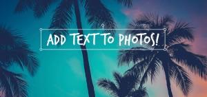 tekst op foto